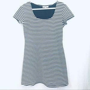 Le Chateau Striped Mini Dress